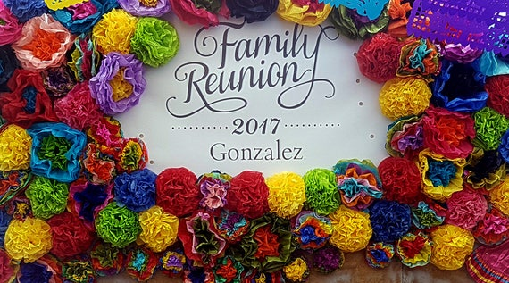 Mexican paper flowers photo wall tissue pom poms multicolor mightylinksfo