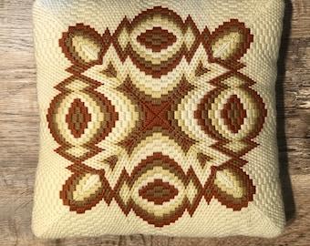 Vintage 1970s Needle Point Pillow
