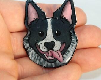 Australian Cattle Dog Blue Heeler Magnet for car locker or fridge: great gift for dog lover, cattle dog collectors, or heeler loss memorial