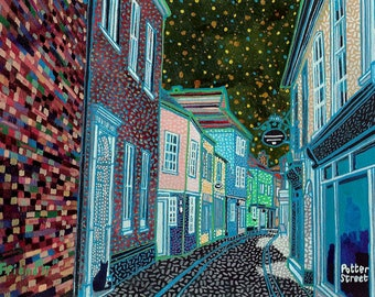 Potter Street (Sandwich Kent). A Ltd edition, numbered and signed print from a Painting by Richard Friend