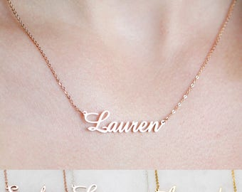 Name necklaces etsy personalized name necklace customized your name jewelry best friend gift office jewelry aloadofball Gallery