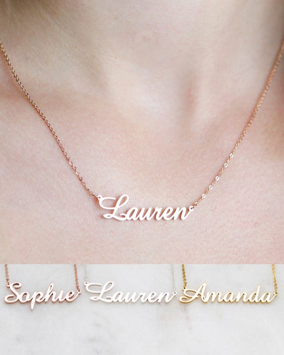 Personalized name necklace customized your name jewelry aloadofball Image collections