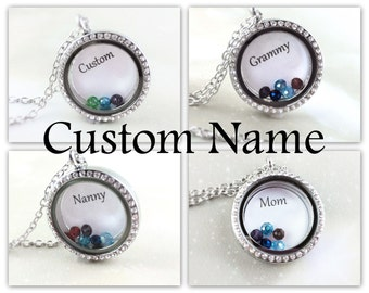 Personalized Jewelry For Mom Gifts - For Grandma To Be Gift - Birthstone Lockets - Personalized Womens Necklace For Mom Jewelry