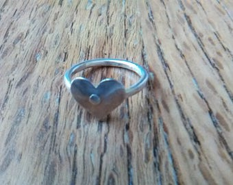 Heart ring pure silver, ethical jewelry, sustainable jewelry, gifts for wife, gifts for daughter, Green Jeweler