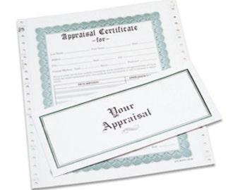 Appraisal Certificate Envelopes, Box of 100   APR-100.05