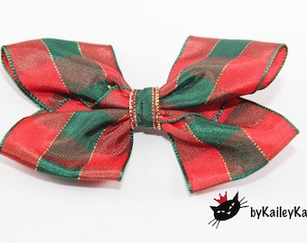 Christmas hair bows, Christmas headbands, Plaid headband, Plaid hair bows, Christmas hari clips, Baby girl headband, Baby girl hair bow,