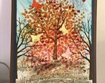 Scenic Butterfly Tree Greeting Card