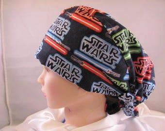 Women's Pixie Scrub Hat Star Wars Light Saber