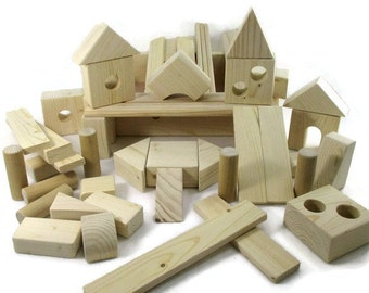 Wooden building block toys for children - Wooden toys - Wooden block toys for toddlers - Wooden block set - Stacking blocks for kids