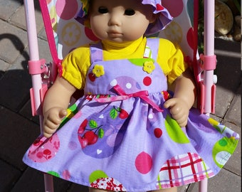 AG Bitty Baby/15 Inch Doll Sunhat, Top, Jumper And Shoes Outfit