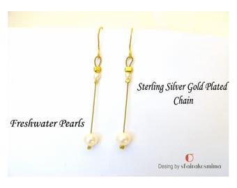 One Pearl Earrings, Bridesmaid Earrings, White Pearl Earrings, Gold Pearl Earrings, Wedding Earrings, Minimalist Gold Earrings, Simple Pearl