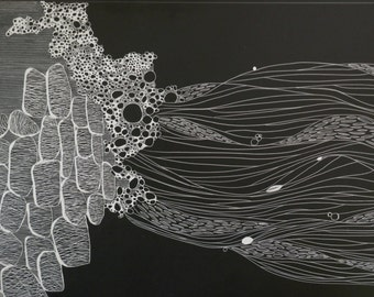 Abstraction in Fluidity on Scratchboard