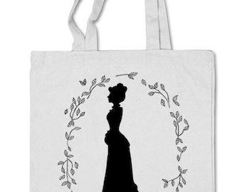 Shopper bag Jane Eyre, book Charlotte Bronte, Victorian era.