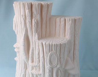 Ceramic Bisque - Wood Stump - Ready to Paint - Wooden Stump Stand - Woodland Display - DIY ceramic project - Ceramic bisque - Display stand