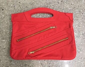 50% OFF!! 70s Vintage Zipper hand bag