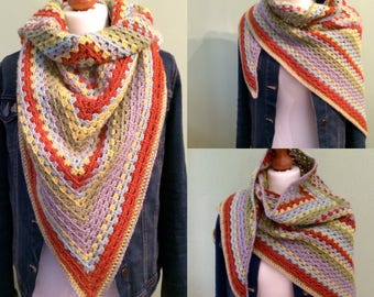 Crocheted Granny Scarf