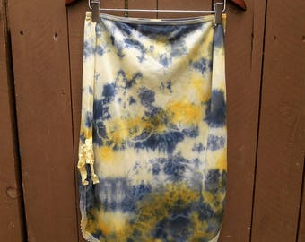 Upcycled skirt, Tie dye skirt, Fairy skirt, Hippie skirt, Bohoskirt, Vintage slip, Beach cover, Surf wear, Plus Size