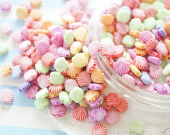 100pcs Assorted Seashell Beads (11mm10mm) AZ153 (((LAST/No restock)))