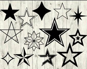Star SVG Bundle, Star cut file, Star clipart, Star svg files for silhouette, Star files for cricut, Star svg, Star dxf, Star eps, Star png