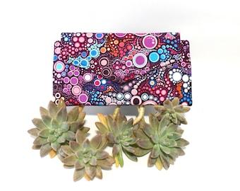Long Wallet Women - Fabric Ladies Wallet - Vegan Wallet with coin pocket - clutch wallet - card holder wallet - phone wallet - thin wallet