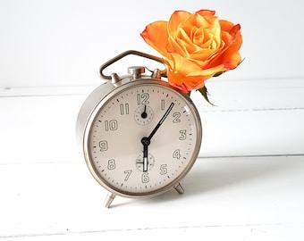 Vintage chroom alarm clock 'Jaz' * old alarm clock * collectible alarm clock * Jaz * industrial clock