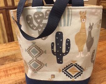 Knitting tote bag, Knitting Project Bag, Alpaca Bag, Sock Bag, Sock Project Bag, Crochet tote bag, Crochet Project Bag