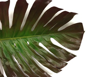 Jumbo Monstera Leaf, 4.5 feet, Split Leaf Philodendron, monstera deliciosa, greenery, Faux plant, Tropical plant, Beach decor, Artificial