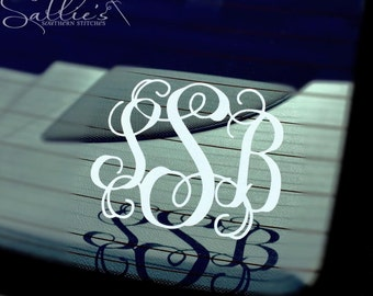 Monogram Car Decal | FREE SHIPPING | Personalized Decal | Car Decal | Vinyl Decal | Tumbler decal | Phone decal | Bridesmaid gift