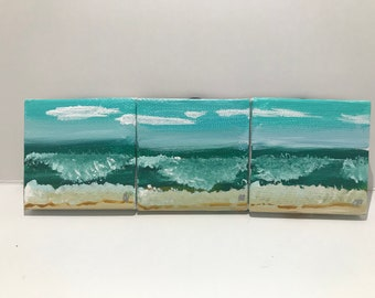 Hand painted Ocean magnets