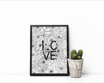 All you need is love 8x10 downloadable print