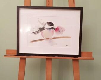 Pretty bird watercolor