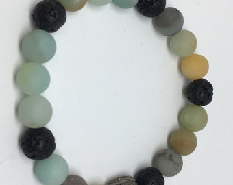 Stretch bracelet lava Amazonite