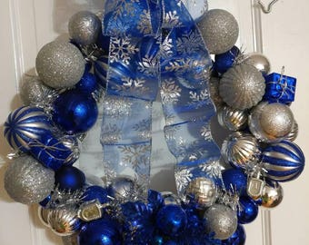 Hannukah wreath 16""