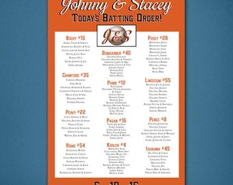 PRINTABLE Wedding Seating Chart • Baseball Seating Chart • Baseball • Giants • Guest List • Reception Seating Assignment • Digital File