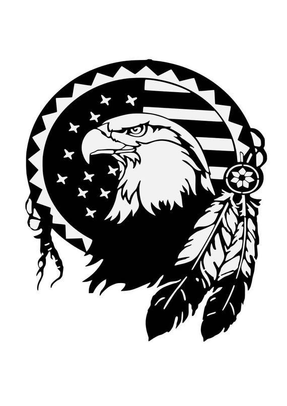 Eagle Svg Feathers Patriotic Svg American Eagle Svg 4th
