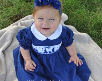 Lilly Navy Nativity Collared Dress