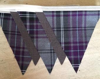 Luxury Scottish Tartan and Hessian bunting