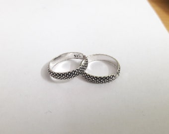 Antique Handmade Toe Rings 925 Sterling Silver Unique Design Toe Rings !! Gift For Her