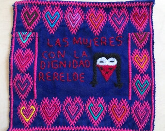 Zapatista art. Embroidered textile.
