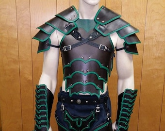 Leather Armor Bordered Gothic Set