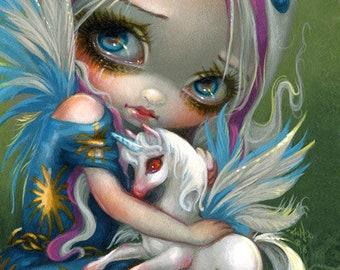 Twilight Delight fairy pegasus unicorn art print by Jasmine Becket-Griffith 8x10 fantasy pegacorn winged horse baby faery