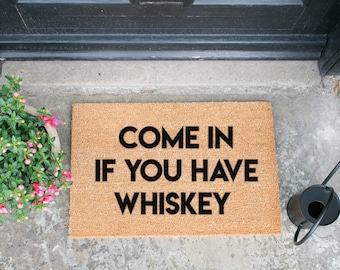 Novelty Irish Come in if you have Whiskey Handsprayed in UK 60x40cm Doormat