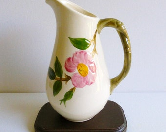 Vintage Repaired Franciscan Desert Rose Hand Painted Milk Jug, Made in USA, 1958-1960. Perfect for a Vintage Tea Party, Gift or Styling Prop