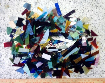 Stained glass scrap 10 lbs of glass for mosaics jewelry art glass projects box 1