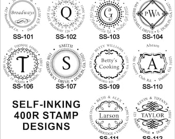 Specialty Address Stamps Round Self-Inking IDEAL 400R SERIES