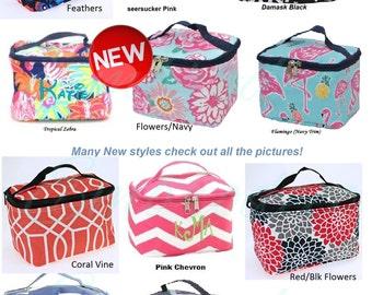 Personalized stylish Medium  Cosmetic bag, makeup bag- with monogram or name