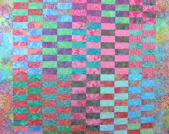 Colorful Batik Happy Quilt