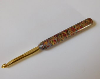 Susan Bates size J-10, 6 MM crochet hook, polymer clay crochet needle