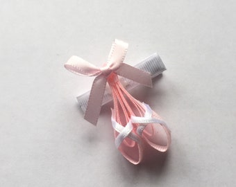 Ballerina hair clip, ballet hair clip, dancer hair bow, Girls hair bow, Ballet shoes hair clip, hair slides, hair accessories