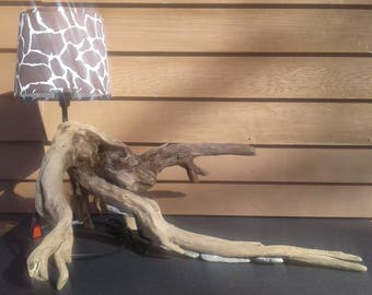 Small Tree Root Lamp - Rustic Home Decor - Nature Art